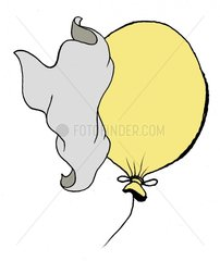 Luftballon statisch aufgeladen