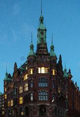 Deutschland  Hamburg - Gebaeude in der Speicherstadt  weltgroesster historischer Lagerhauskomplex