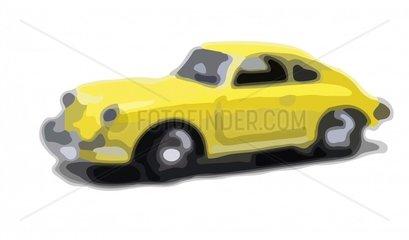 Porsche stilisiert