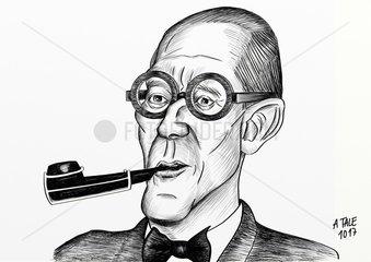Karikatur Le Corbusier
