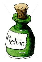 Medizin Medizinflasche
