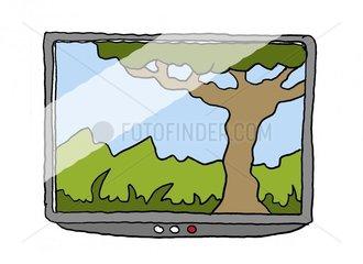 Bildschirm mit Bild