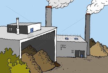 Biokraftwerk Hackschnitzelheizung 1 Serie Heizen