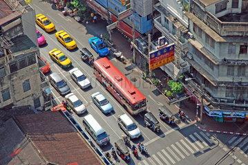 Blick vom Grand China Princess Hotel ueber das thailaendische Bangkok