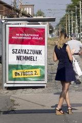 Kampagne zur Volksabstimmung am 2. Oktober in Ungarn