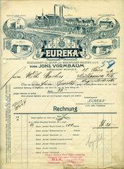 Rechnung der Firma Eureka  Waschpulverfabrik  Duesseldorf  1906