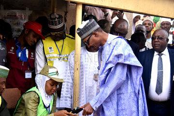 NIGERIA-KATSINA-ELECTIONS-BUHARI