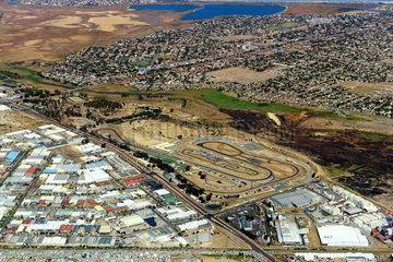 Luftbild Killarney Rennstrecke bei Kapstadt