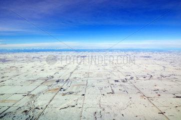 Luftaufnahme Hochplateau um Calgary