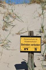 D__nenschutzschild in Sankt Peter Ording