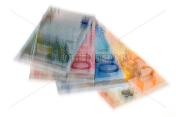 Euro Geldscheine als Freisteller