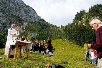 Bergmesse an der Tutzinger Huette