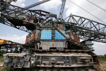 Welzow-Sued  alter Braunkohlebagger ausser Betrieb