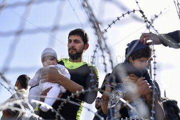 refugees at the Greek-Macedonian border