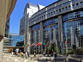 Bruessel: Gebaeude des Europa-Parlament