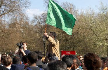 London - Redner an der Speaker's Corner im Hyde Park