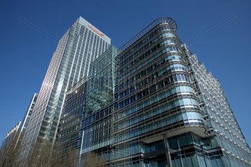London - Bueropalaeste im Finanzdistrikt Canary Wharf