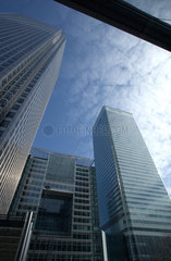 London - Buerotuerme und Bankenhochhaeuser in Canary Wharf
