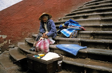 Mexikanische Haendlerin in Zacatecas