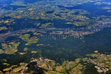 Rhein bei Bad Honnef Luftaufnahme
