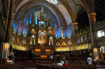 Montreal - Innenraum der Notre-Dame Basilica of Montreal