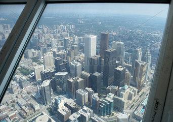 Toronto - Die Hochhaeuser des Bankenviertels aus der Vogelperspektive