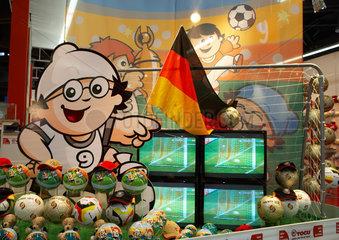 Nuernberg - Messestand mit Fussballaccesoires zur Fussball WM