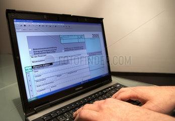 Elektronische Steuererklaerung am PC mit der Software Elster