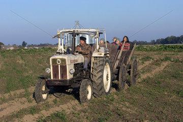 Mecklenburg  ein Ausflug auf einem Traktor