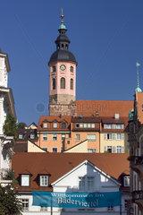 Baden-Baden  Blick auf die Altstadt mit Stiftskirche