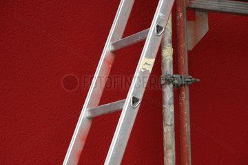 Baugeruest mit Leiter