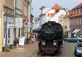 Bad Doberan  Baederbahn Molli am Bahnhof Stadtmitte