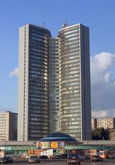 Moskau  Blick auf das Comecon Gebaeude