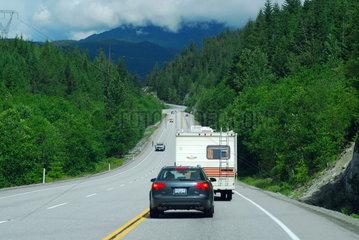 Der Sea-to-sky Highway in Kanada