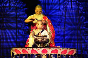 Peking  Schauspieler bei einer Karateshow
