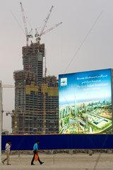 Dubai  Baustelle des Burj Dubai im neuen Stadtteil Downtown