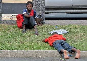 Suedafrika: Strassenjungen in Santa Lucia