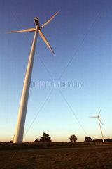 Ein Windrad aus dynamischer Perspektive