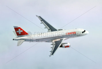 SWISS Airbus A319 im Flug