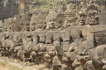 Eingang zu Angkor Thom  Angkor Wat  Kamboscha  Asien