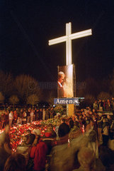 Messe am Papstkreuz in Poznan  Polen