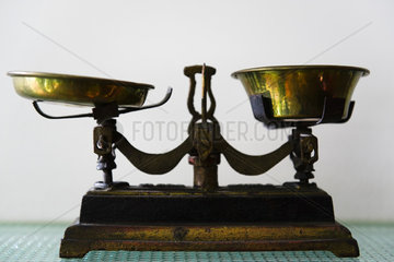 Antique two pan balance scale