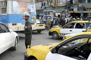 Strassenverkehr im Centrum von Kabul