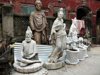 Kunsthandwerkstatt in Indien