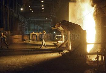 Stahlwerk der Dillinger Huettenwerke.