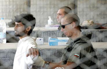 Deutsche ISAF Sicherheitskontrolle im Camp Warehouse
