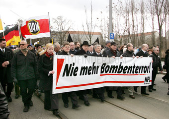NPD Aufmarsch in Dresden