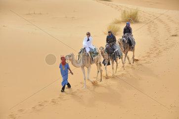 Kameltrekking in Marokko