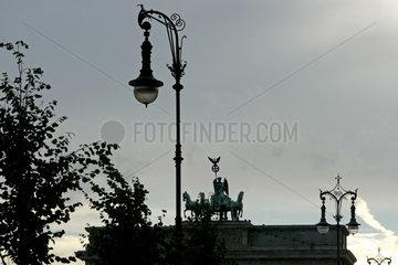 Die Quadriga des Brandenburger Tor im Gegenlicht