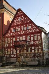 Fachwerkhaus in Bad Windsheim  Half-timbered house in Bad Windsheim  Landkreis Neustadt a.d.Aisch  Bayern  Deutschland